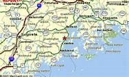 Google Map Of Maine | World Map Gray