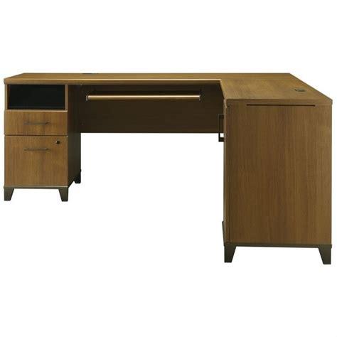 bush achieve 70 quot l shape warm oak computer desk ebay