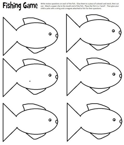 printable fish template reviewing by fishing layers of learning