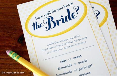Free Printable Bridal Shower Game Template