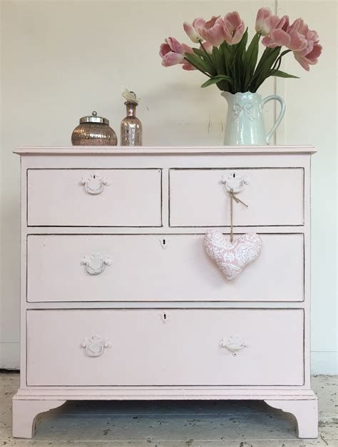 baby pink shabby chic chest  drawers home sweet