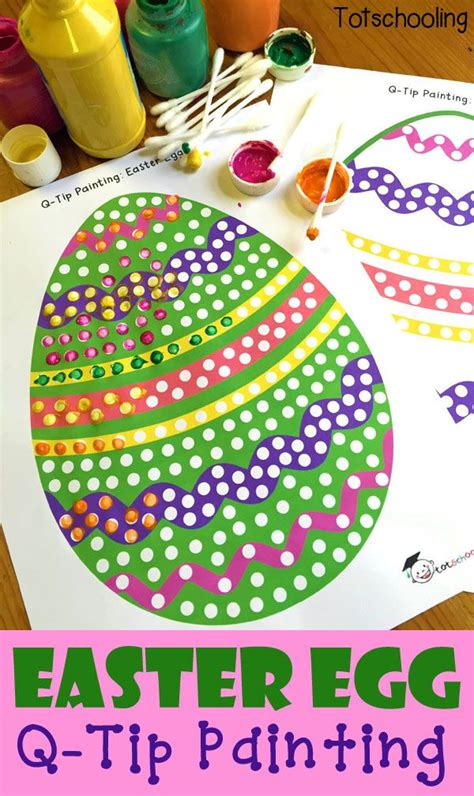 easter egg  tip painting   printable easter