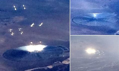 Airplane passenger takes pictures of 'UFO' close to Area ...