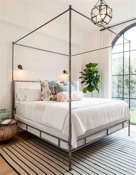 metal canopy bed with curtains 33 canopy beds and canopy ideas for your bedroom digsdigs