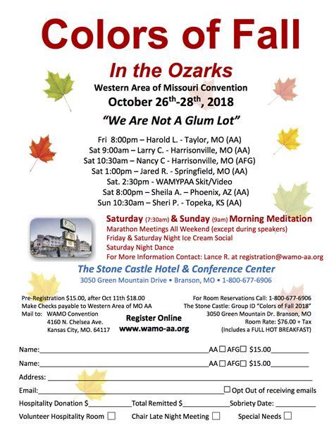 colors fall ozarks central office southwest missouri