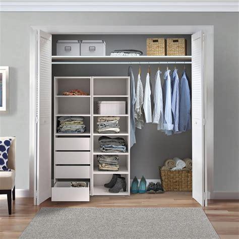 Wardrobe And Storage by Flexi Storage White 5 Shelf Built In Wardrobe Unit