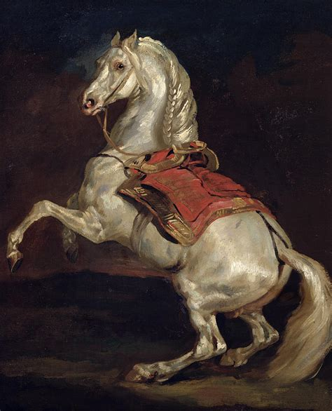 Napoleon's Stallion Tamerlan Painting by Theodore Gericault