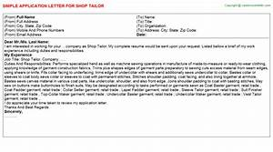 Talent Acquisition Cover Letter Tailor Seamstress Job Templates