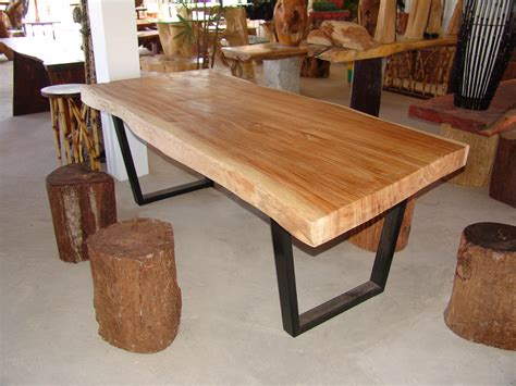 edge dining table acacia wood  edge reclaimed solid
