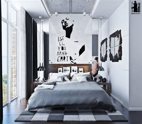 Modern Urban Bedroom Decor In Grey And White Digsdigs