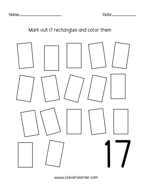 nursery numbers worksheets