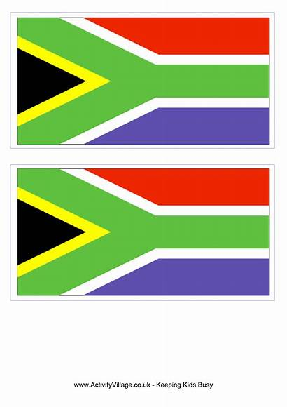 African Flag South Template Flags Printable A4