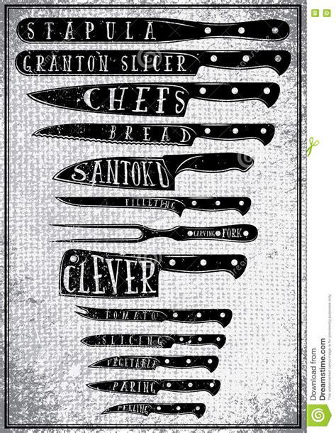 affiche cuisine knives illustrations vector stock images 988
