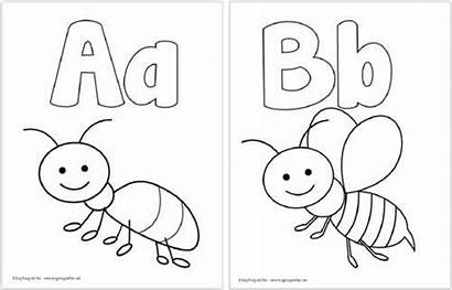 Alphabet Coloring Pages Printable Letter Letters Worksheets