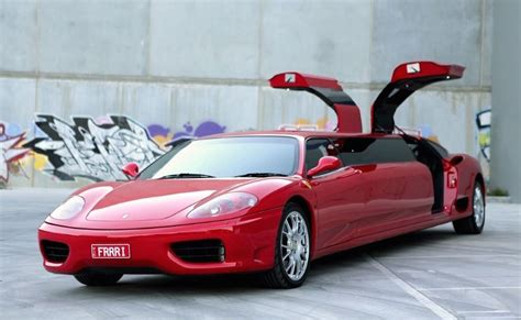 sale ferrari  stretched limousine performancedrive
