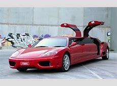 For Sale Ferrari 360 stretched limousine PerformanceDrive