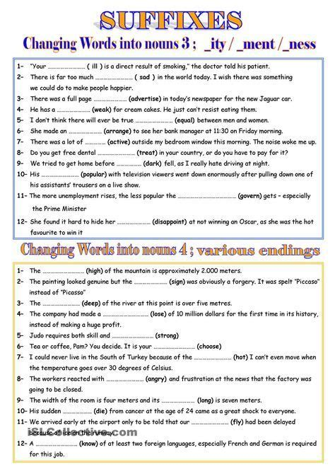 adjective suffixes worksheet schematic  wiring diagram