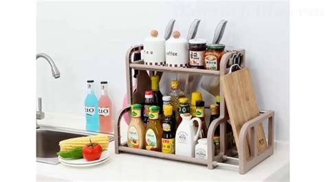 Tempat Bumbu Dapur Modern rak tempat bumbu dapur minimalis serbaguna