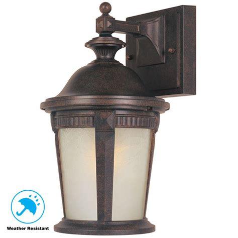 hton bay mystic bronze outdoor wall lantern