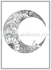 Cat and Moon Coloring Pages Adult