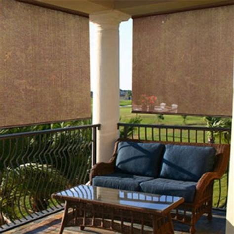 new exterior 6 ft x 6 ft roll up window sun shade patio