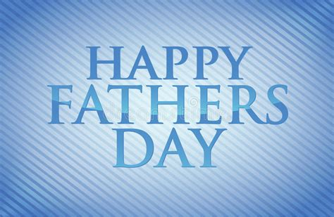 happy fathers day card illustration design stock