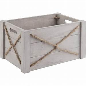Caisse En Bois à Donner : caisses en bois patin et corde lot de 3 boisnature 39 l ~ Louise-bijoux.com Idées de Décoration
