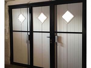 portes a battants pour porte de garage wedoor With porte de garage basculante avec portillon pour cremone porte d entrée 5 points