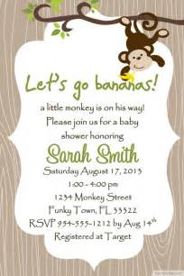 Jungle Theme Baby Shower Invites