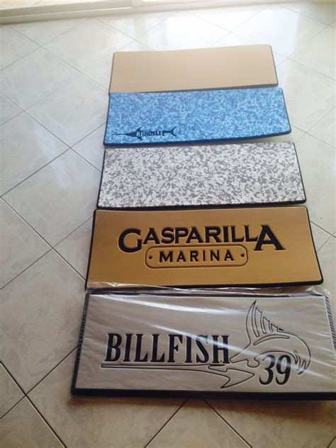 personalized welcome mats for boats custom helm pads marine mat the hull boating and