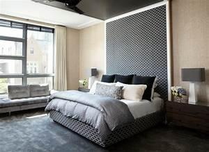 Tete De Lit Chic Et Design : t te de lit originale en noir pour une chambre l gante ~ Teatrodelosmanantiales.com Idées de Décoration