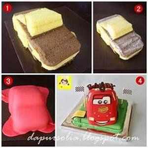 Cars Sahne Torte Anleitung Lightning McQueen für Kindergeburtstag selber machen Cake