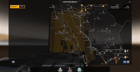 Ats Garage Locations by Ats Mexico Map For 1 29 Ats Mod American Truck