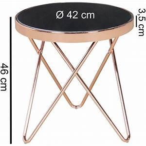 Beistelltisch Schwarz Rund : wohnling beistelltisch couchtisch tisch metall glas rund 42 cm schwarz kupfer ~ Eleganceandgraceweddings.com Haus und Dekorationen