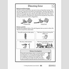 5th Grade Science Worksheets What Is The Direction Of Each Force? Greatschools