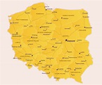 Map of Poland | Map of Europe | Europe Map