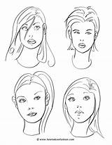 Coloring Makeup Face Pages Faces Drawing Draw Drawings Cartoon Hair Sketches Printable Blank Practice Person Techniques Templates Painting Getcolorings Makeu sketch template