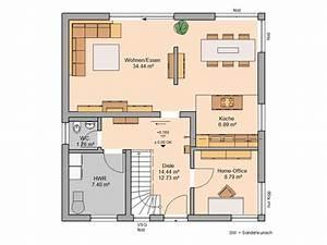 Haus Grundrisse Beispiele : familienhaus luna plus von kern haus modern und hell ~ Frokenaadalensverden.com Haus und Dekorationen