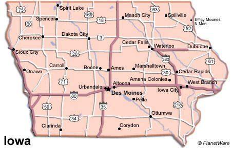 maps map iowa