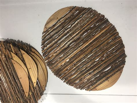 Bamboo Twig Oval Placemats   Set of 6 ? GingerInteriors.co.uk