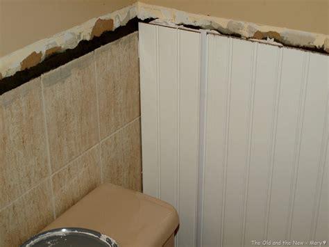 good bye  tilebeadboard  tile bathroom wall