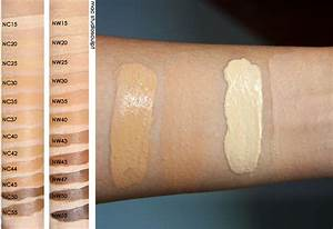 Swatches Of Mac Studio Fix Plus Foudation Credits Http