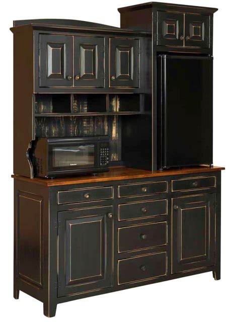 kitchen storage hutches amish handmade caf hutch wmaple countertop from 3151