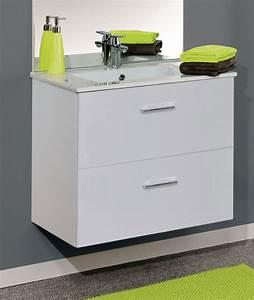 Meuble Sous Vasque 80 Cm : neova meuble sous vasque angelo deux coulissants ~ Nature-et-papiers.com Idées de Décoration