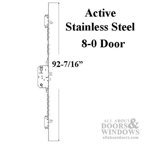 Andersen Active Multipoint Lock, FWH80 Door   Stainless Steel