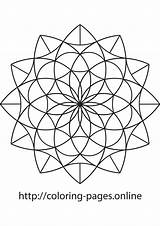 Mandala Triangle Coloring Printable Admin Published December sketch template