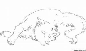 Sad Wolf Lineart by xXWitherXx on DeviantArt