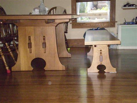stickley keyhole trestle table plans diy