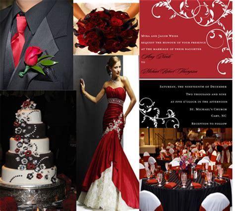 holiday wedding invitation inspiration red black