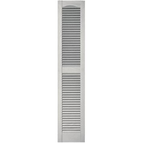 builders edge 12 in x 60 in louvered vinyl exterior